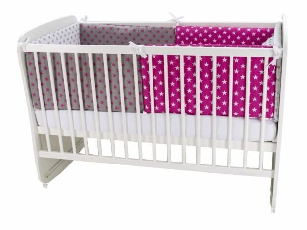 Lenjerie MyKids Colorful Stars Pink 9 Piese